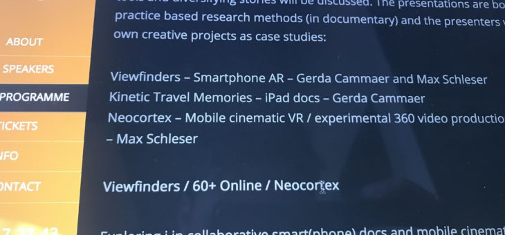 Viewfinders premiere's AR app @ i-Docs